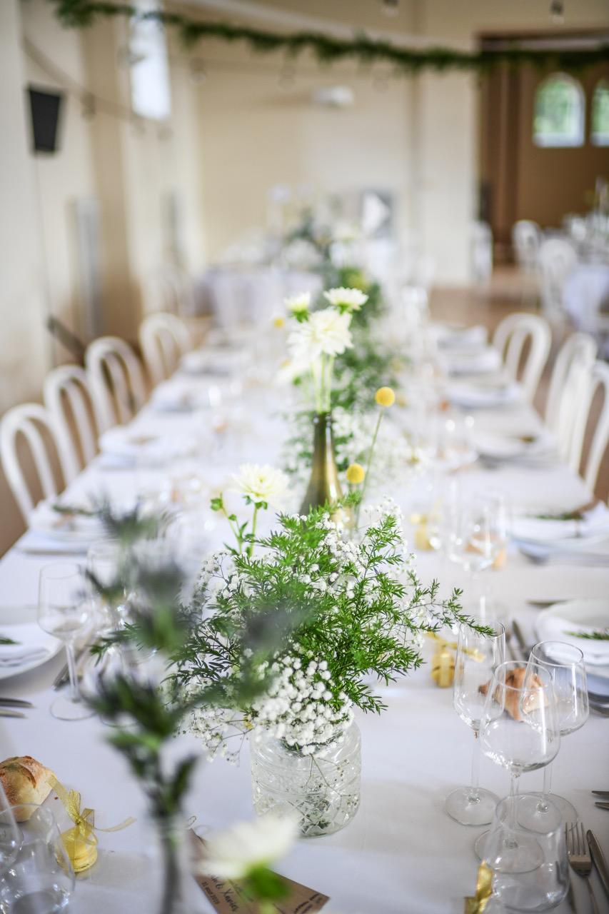 mariage vert sarthe table