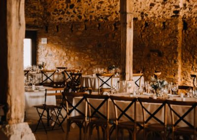 décoration mariage grange pierre