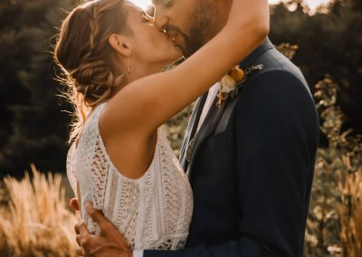 mariage coucher de soleil