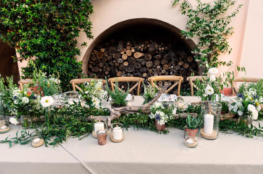 table d'honneur mariage vegetal