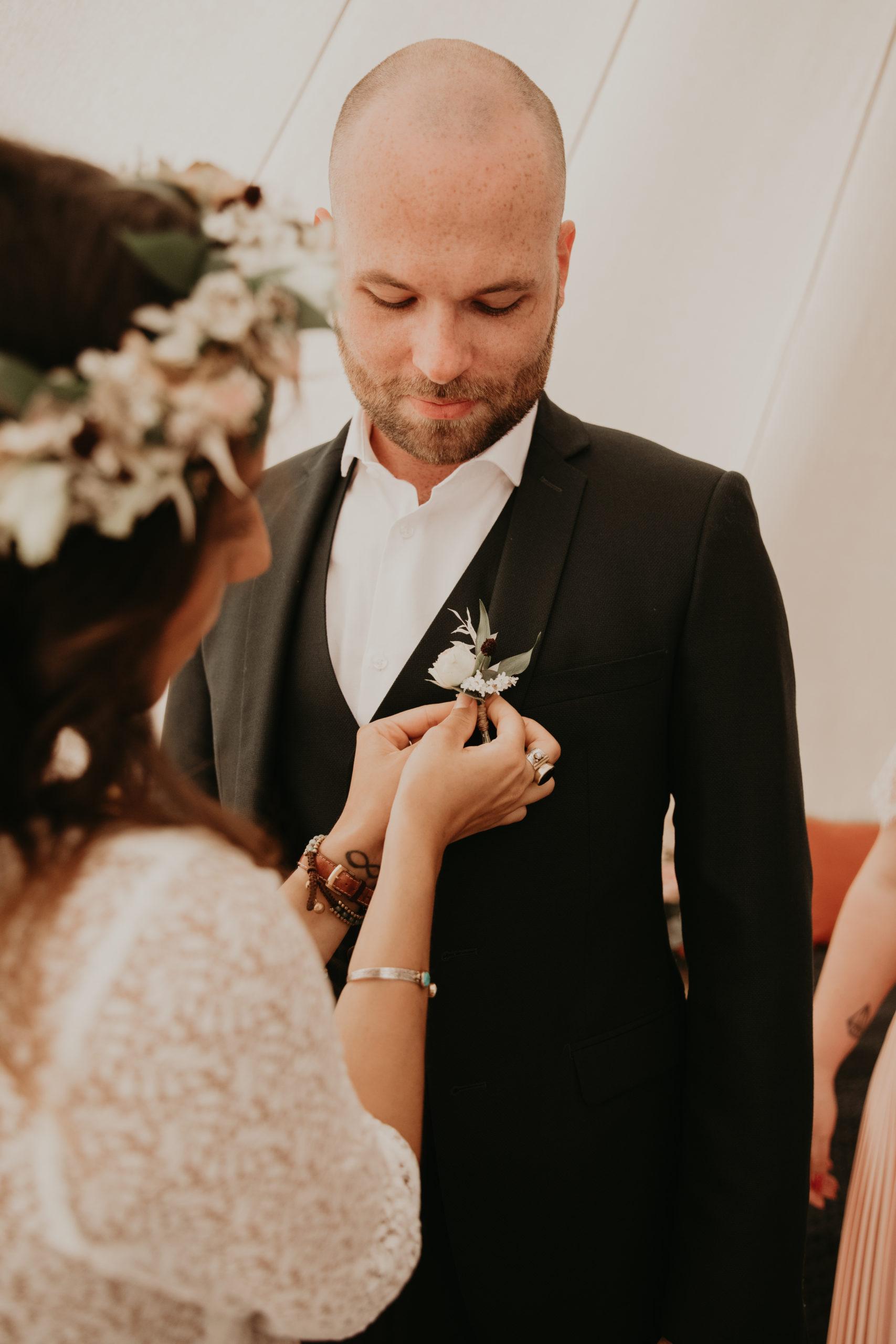 boutonnière marié témoin