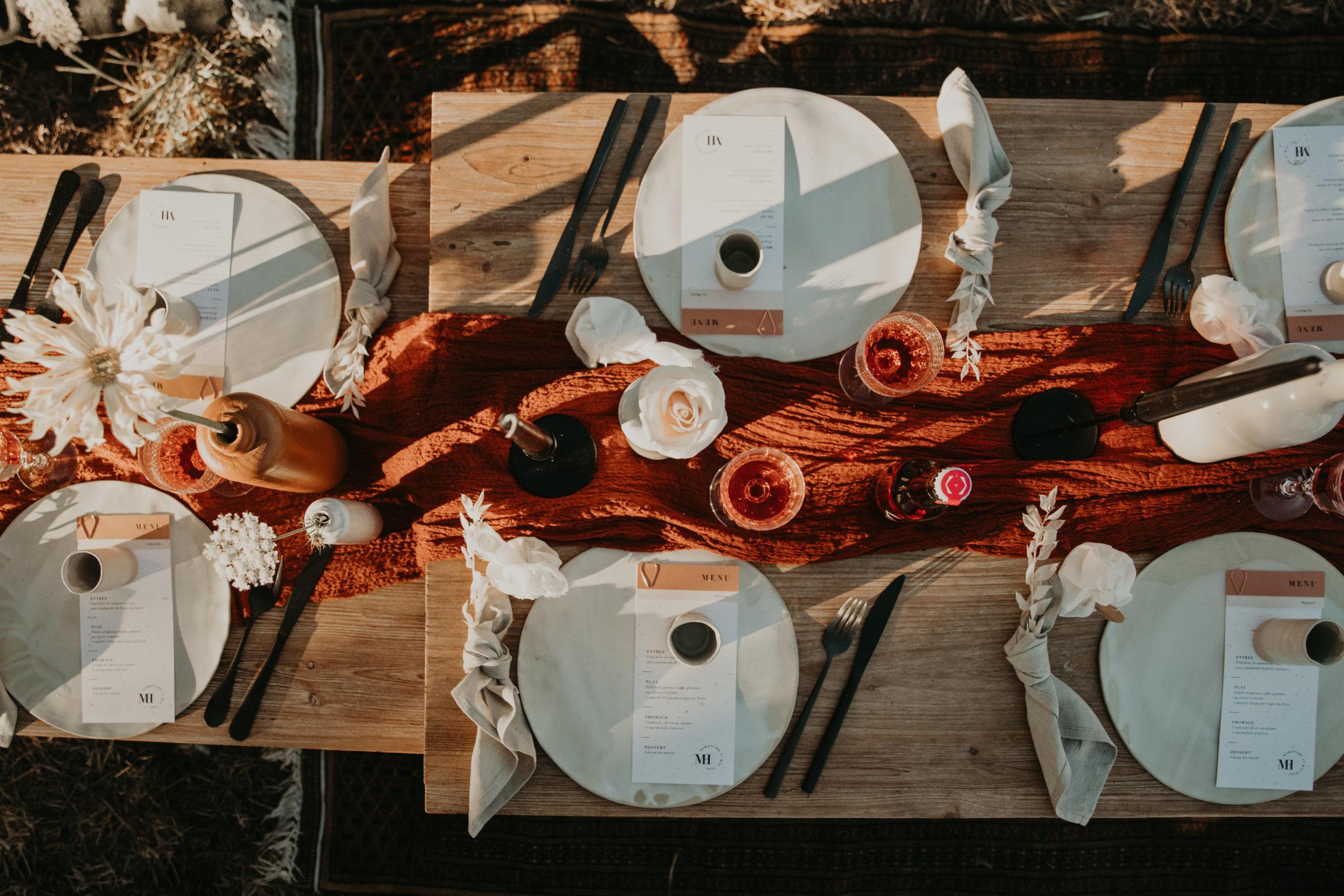table céramique mariage