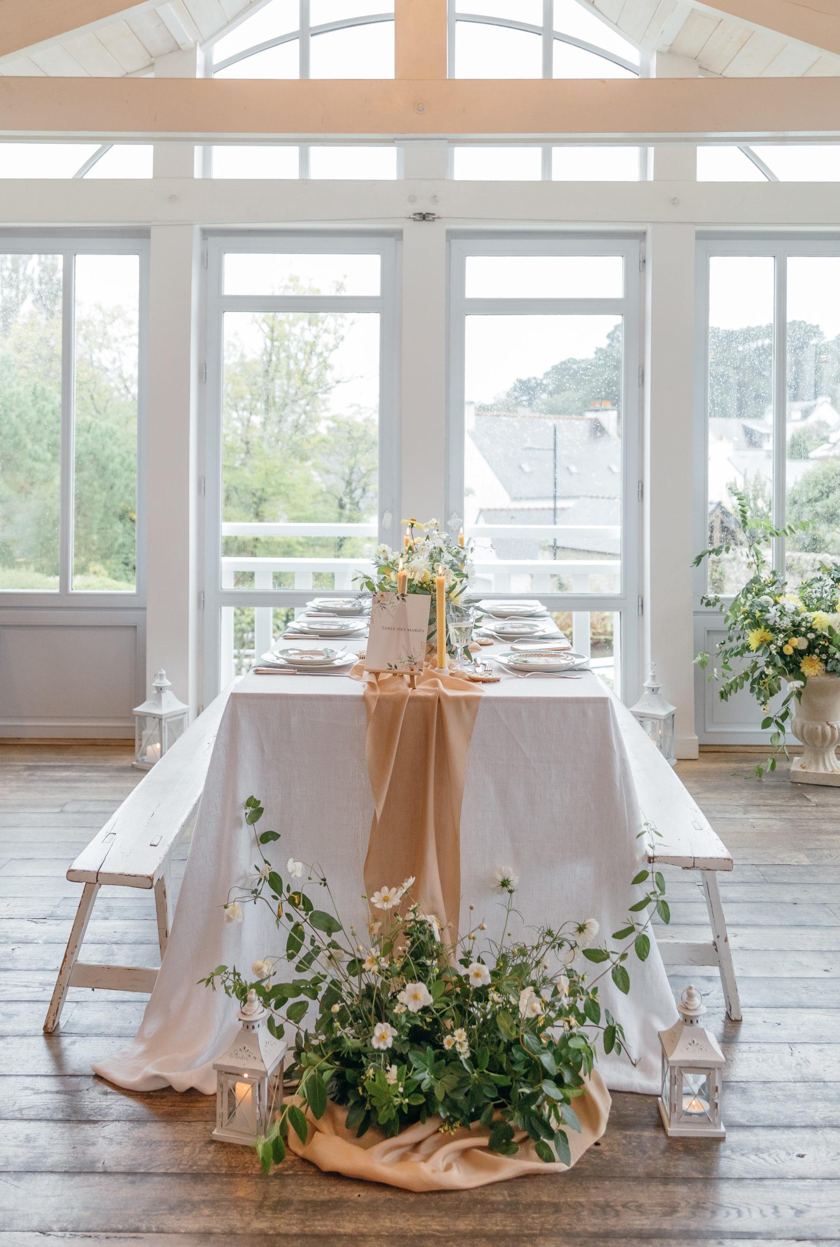 table des mariés intimiste