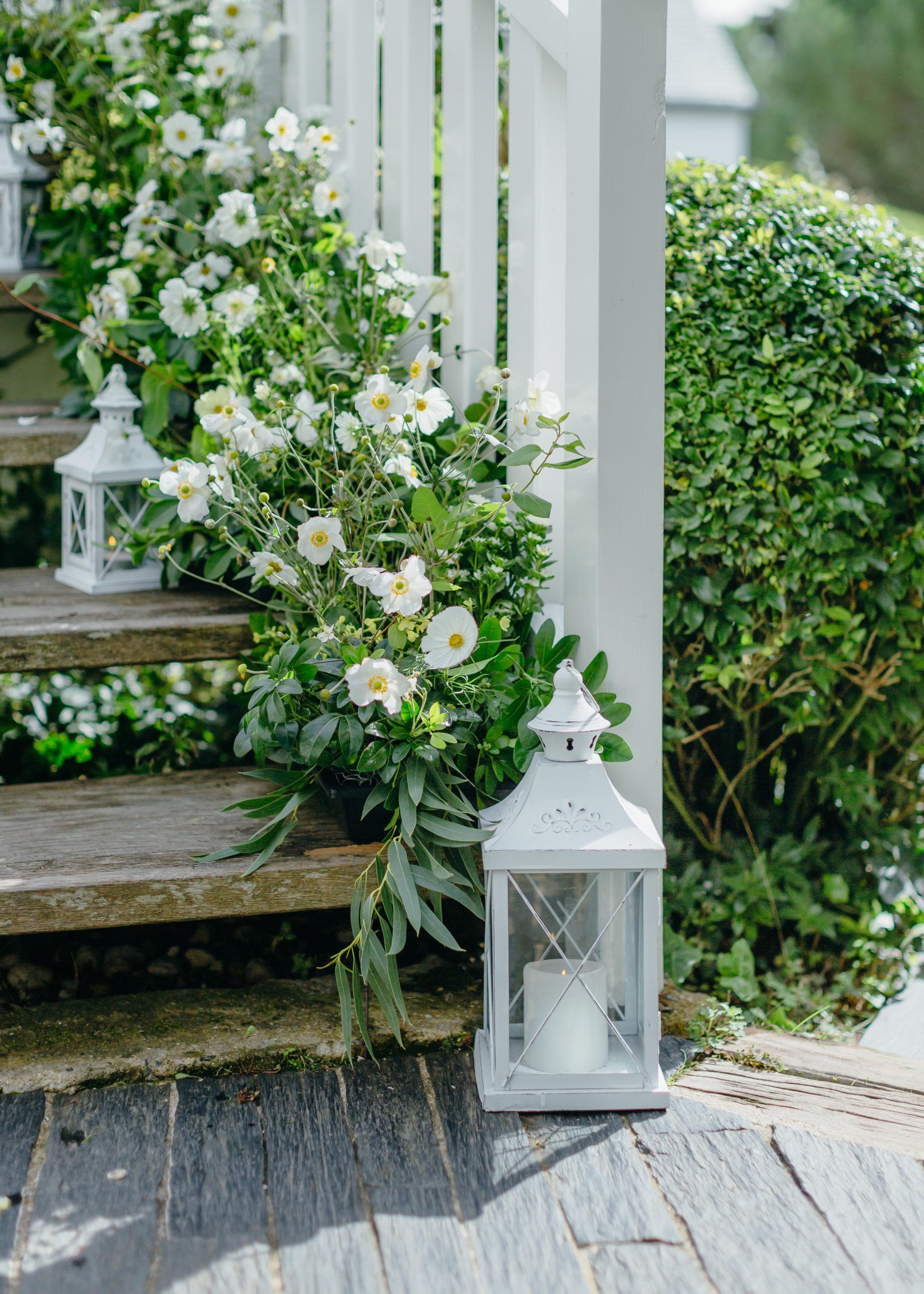 escalier fleuri mariage