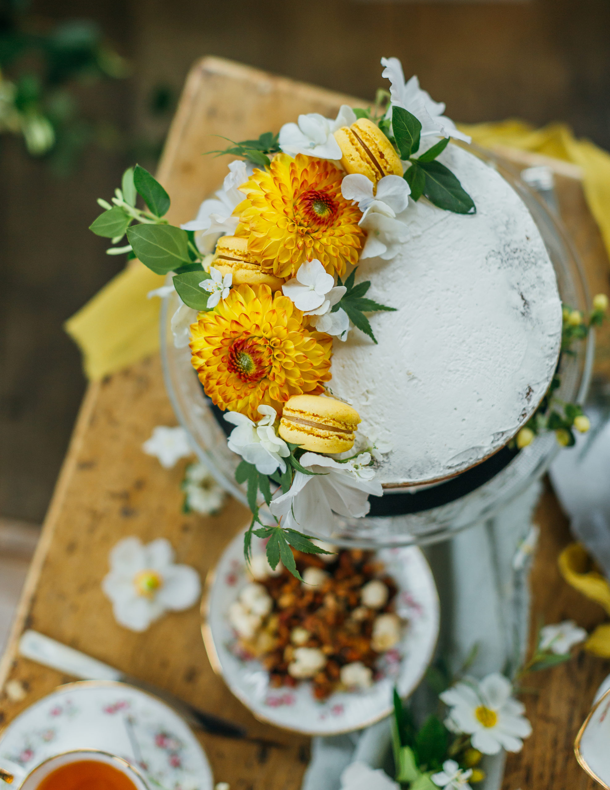 naked cake fleuri mariage