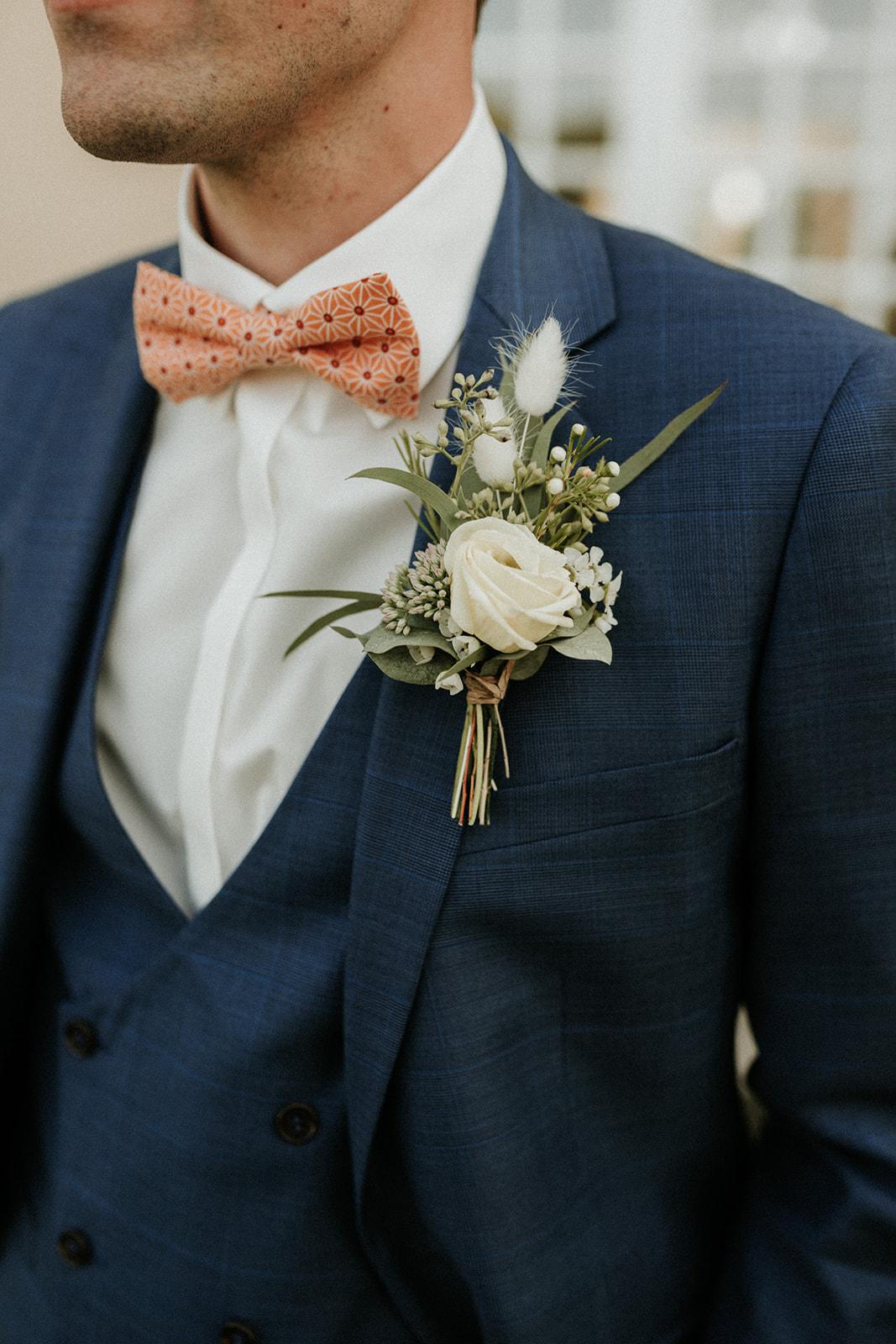 boutonnière homme mariage