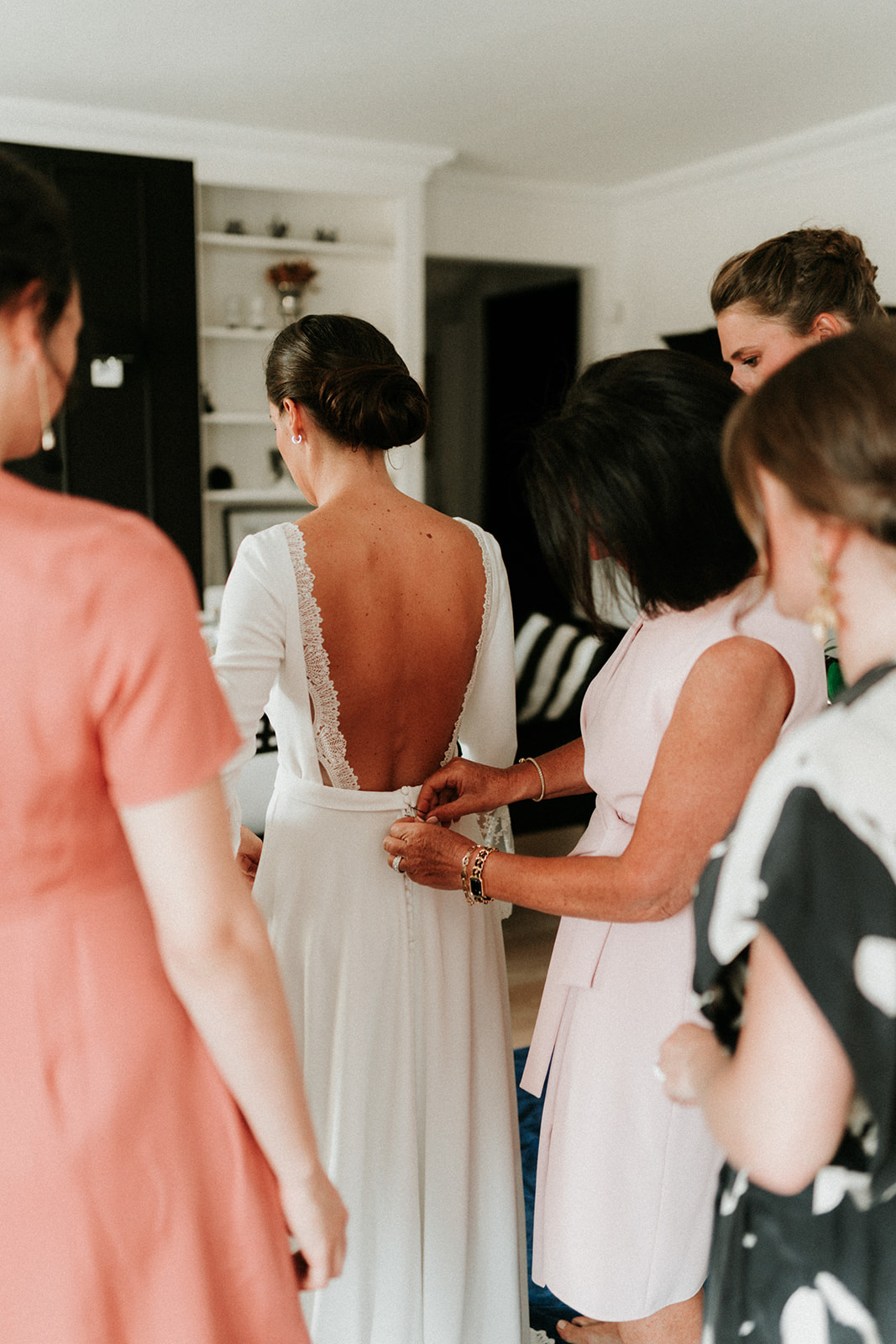fermture robe mariée